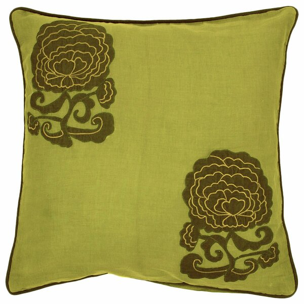 Bowen Fringed in Floral Cotton Throw Pillow by August Grove