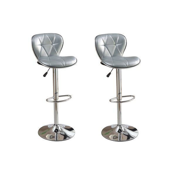 Yearwood Adjustable Height Swivel Bar Stool (Set of 2) by Brayden Studio