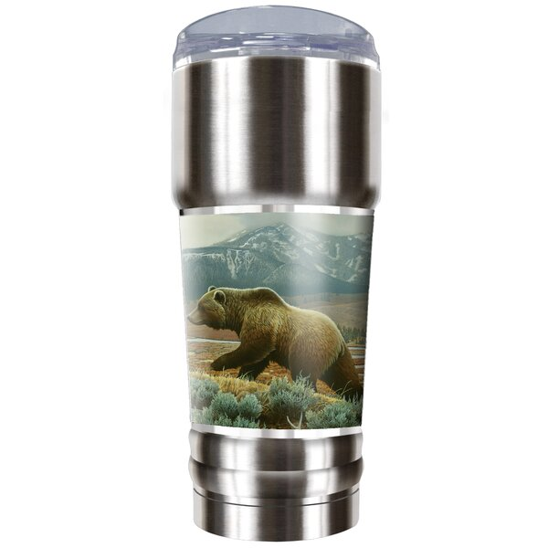Grizzly Bear Traditions 32 oz. Stainless Steel Travel Tumbler by Great American Products