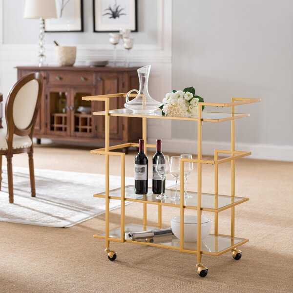 Lebanon Art Deco Bar Cart by Ivy Bronx