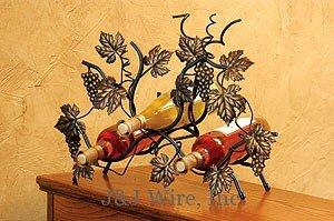 3 Bottle Tabletop Wine Bottle Rack by J & J Wire J & J Wire