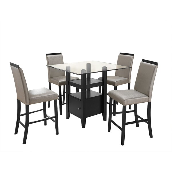 Stukes 5 Pieces Dining Set by Red Barrel Studio
