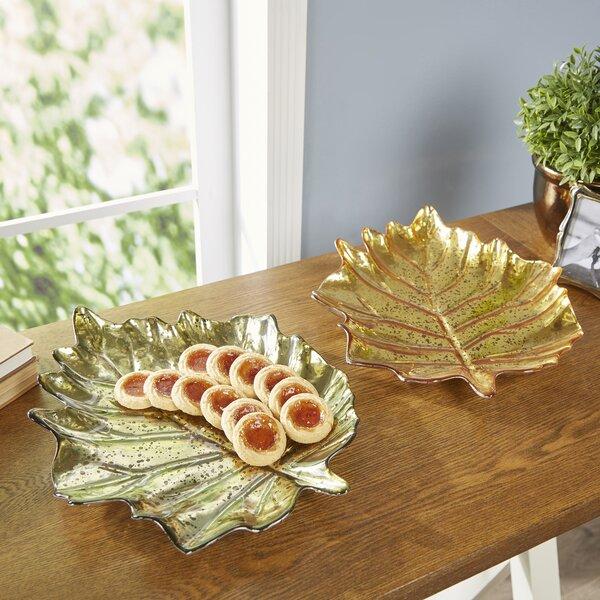 Maple Leaf Decorative Bowls (Set of 2) by Birch Lane™