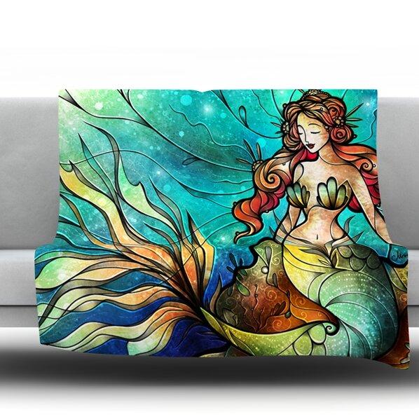 Serene Siren Throw Blanket by KESS InHouse
