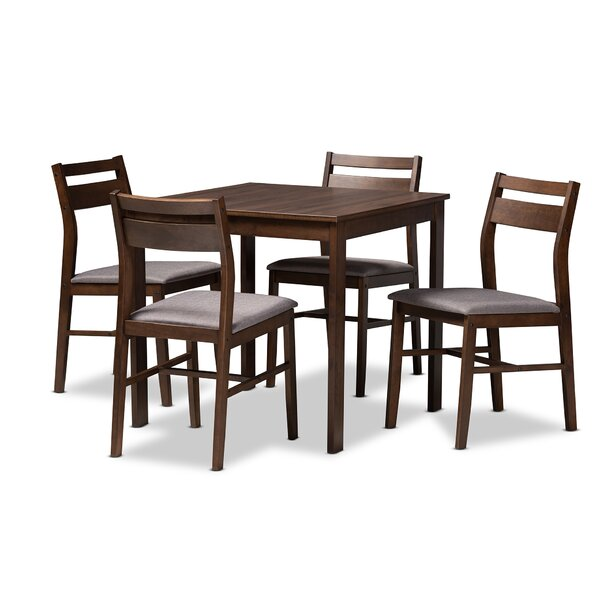 Raphael Modern and Contemporary Upholstered 5 Piece Dining Set by Ivy Bronx Ivy Bronx