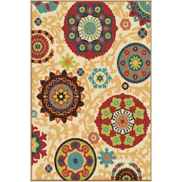 Phelps Beige Indoor/Outdoor Area Rug by Threadbind