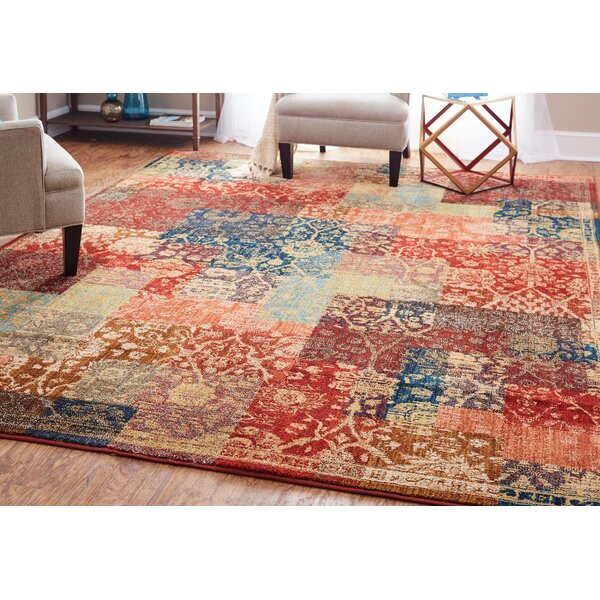 Kopstal Red Area Rug by World Menagerie