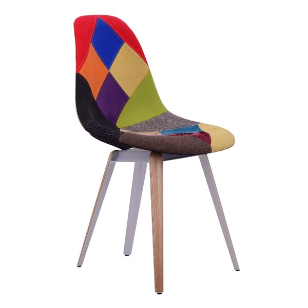 Virgie Slice Patchwork Upholstered Dining Chair by Ivy Bronx