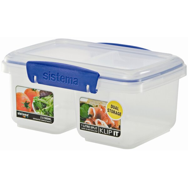 Klip It Split 31 Oz. Food Storage Container by Sistema USA