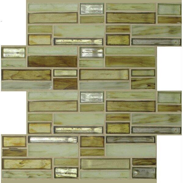 Sparkler Jupiter Glass Mosaic Tile in Brown/Yellow by Tile Focus
