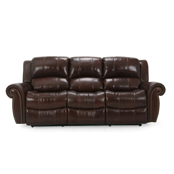 Gretna Leather Reclining Sofa by Wildon Home ®