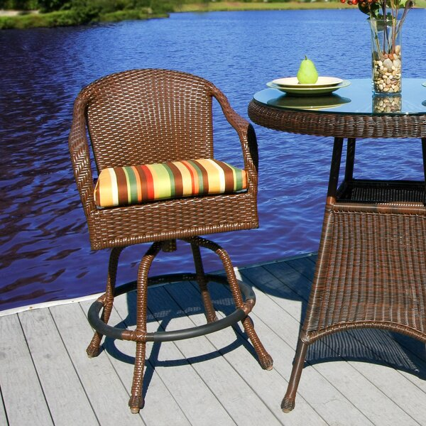 Fleischmann 29.5 Patio Bar Stool with Cushion by Darby Home Co