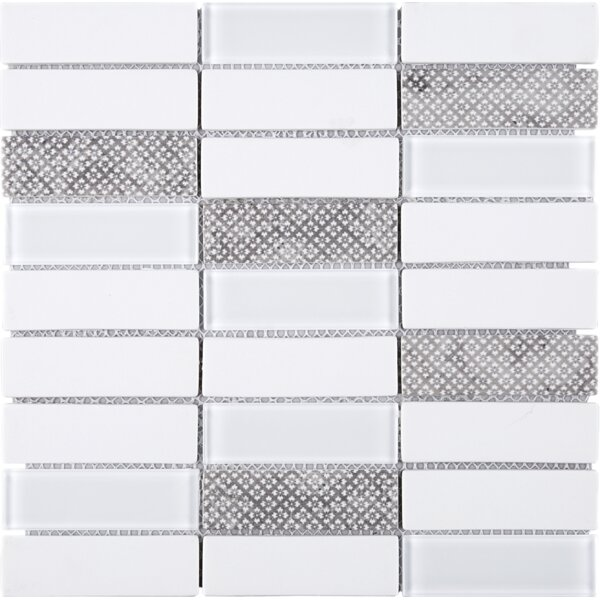 Recycle 1.3 x 4 Mixed Material Tile in White/Gray by Multile