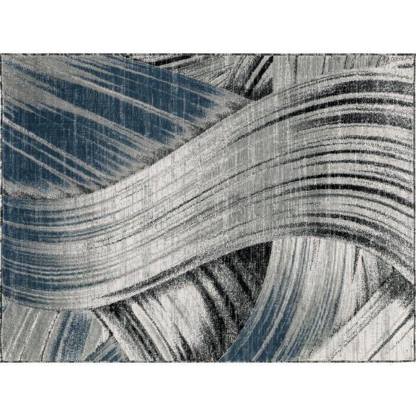 Cowgill Gray/Dark Blue Area Rug by Ebern Designs