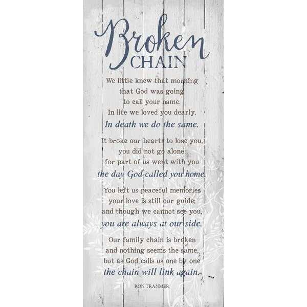 Broken Chain… Textual Art Plaque by Dexsa