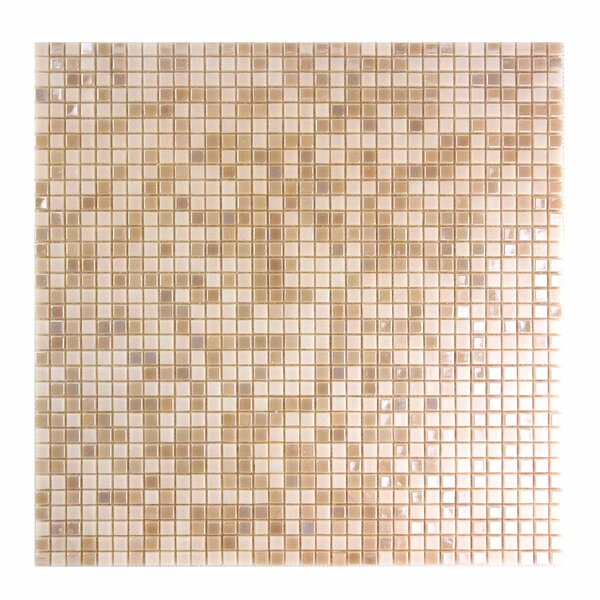 Galaxy Straight 0.31 x 0.31 Glass Mosaic Tile in Orange by Abolos