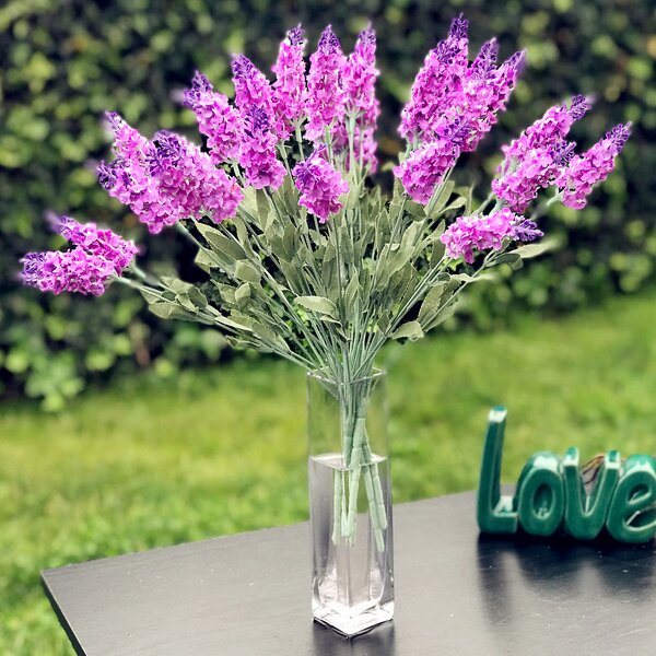 Lavender Branch in Decorative Vase by Ophelia & Co.