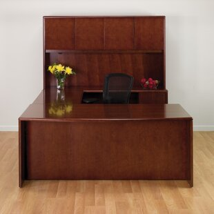 Jusino U-Shape Executive Desk with Hutch