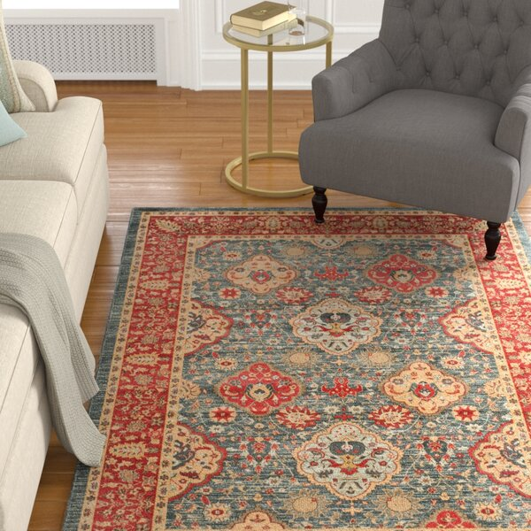 Alto Red/Blue Area Rug by Darby Home Co