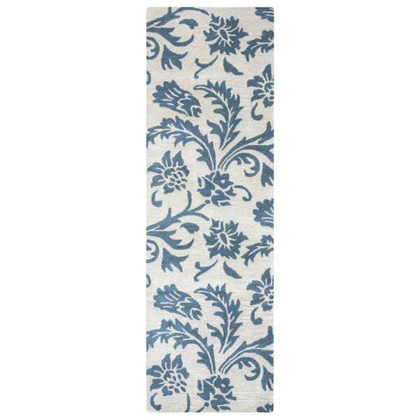 Ostrander Hand-Tufted Blue/Beige Area Rug by One Allium Way