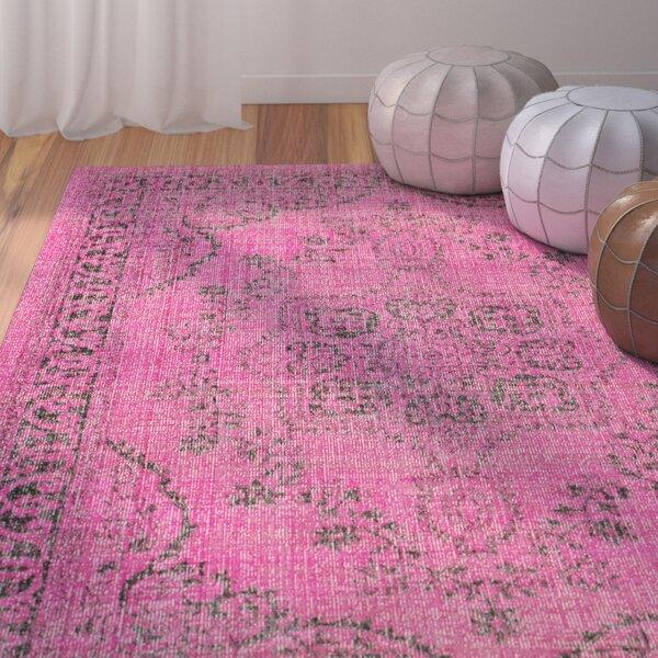 Randhir Floral Pink Area Rug by Bungalow Rose