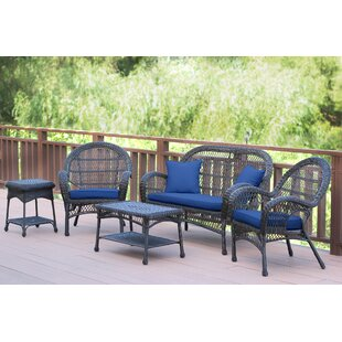 Mangum 5 Piece Rattan Sofa Seating Group with Cushions By August Grove