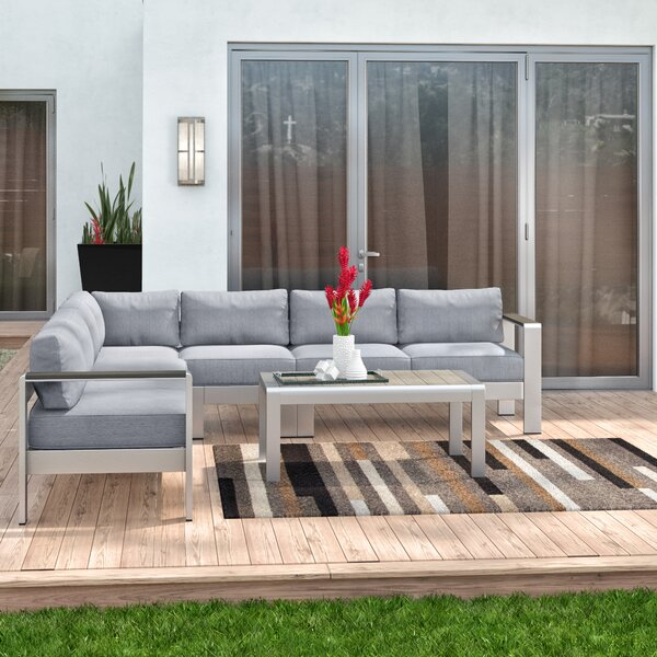 Coline 6 Piece Sectional Seating Group with Cushions by Orren Ellis