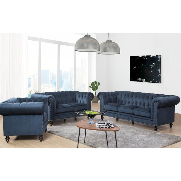 Jovani 3 Piece Living Room Set by Rosdorf Park