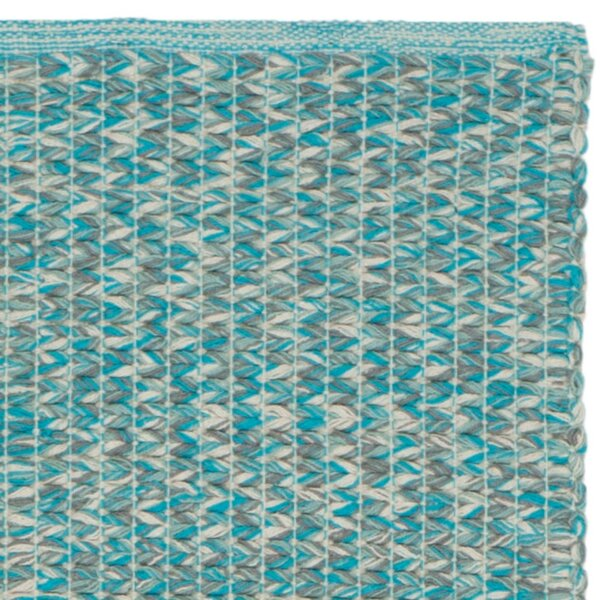 Alberta Hand-Woven Cotton Turquoise Area Rug by Highland Dunes