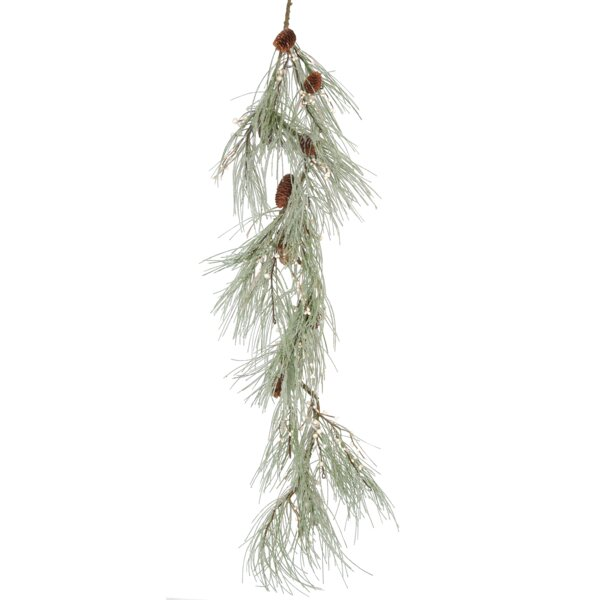 Faux Snow Pine and Berry Garland by Laurel Foundry Modern Farmhouse