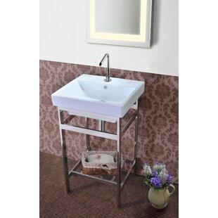 Where buy  Burnsdale Stainless Steel Open Console 20.3 Single Bathroom Vanity Set ByLatitude Run