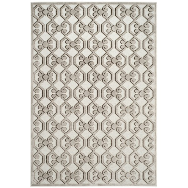 Landman Silver/Ivory Area Rug by Gracie Oaks