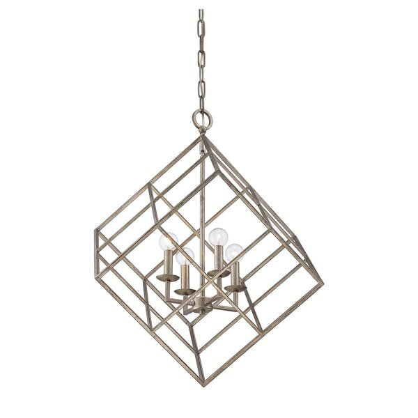 Glendale 4-Light Square/Rectangle Chandelier by Wildon Home ®