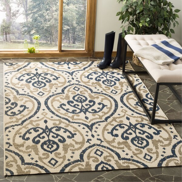 Martha Stewart Fairview Beige/Navy Area Rug by Safavieh