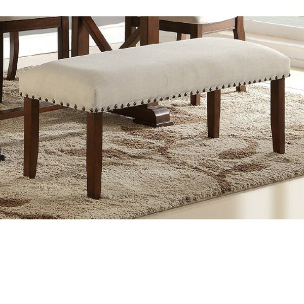 Rowsey Rubber Wood Bench by Charlton Home