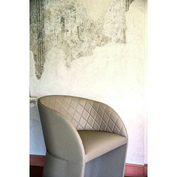 Hudson Arm Chair in Eco-Leather Upholstered Dining Chair by YumanMod