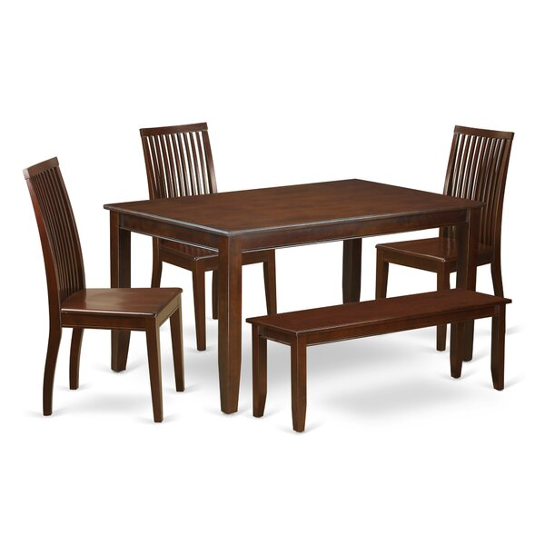 Araminta 6 Piece Solid Wood Dining Set by Alcott Hill