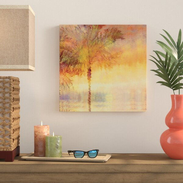 Palmae Reflections Gold Painting Print on Wrapped Canvas by Bay Isle Home