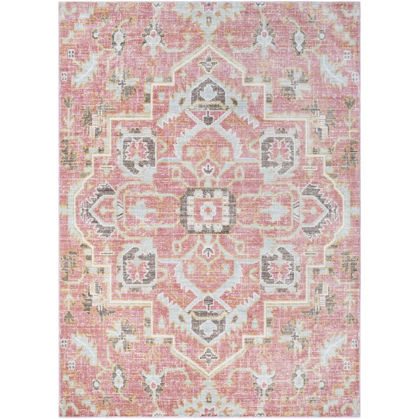 Mistana Fields Pink Area Rug & Reviews