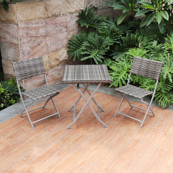 Baylee 3 Piece Bistro Set by Rosecliff Heights