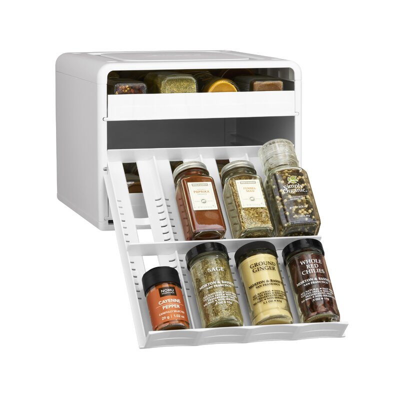 """12/"""" x 24/"""" Flexible Magnetic Sheet Adhesive Back Create Magnetic Spice Rack"""