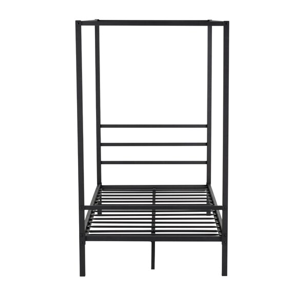 Gasburg Metal Twin Canopy Bed by Ebern Designs