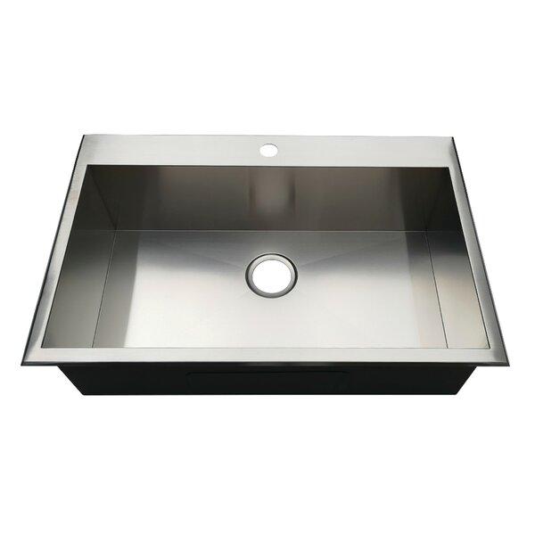 Gourmetier 32 L x 21 W Drop-In Kitchen Sink