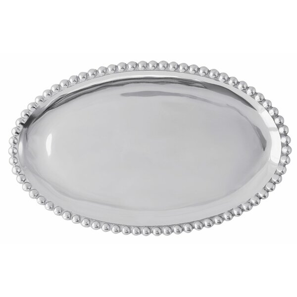 String of Pearls Serving Platter by Mariposa