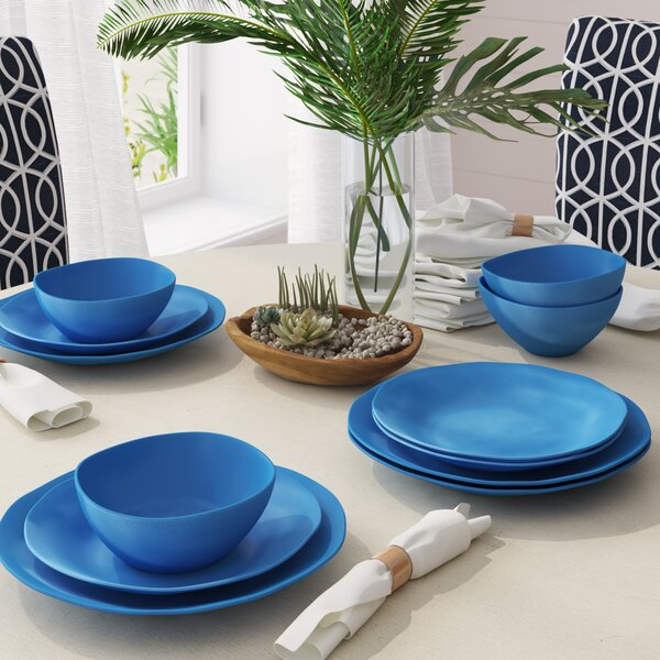 Caitlin 12 Piece Dinnerware Set, Service for 4 by Beachcrest Home
