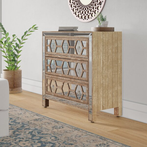 Milla 3 Drawer Chest by Wrought Studio