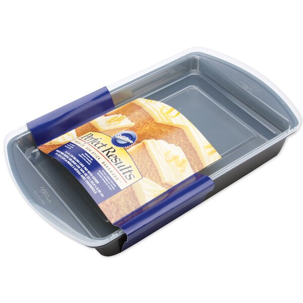 Non-Stick Perfect Oblong Cake Pan with Cover by Wilton