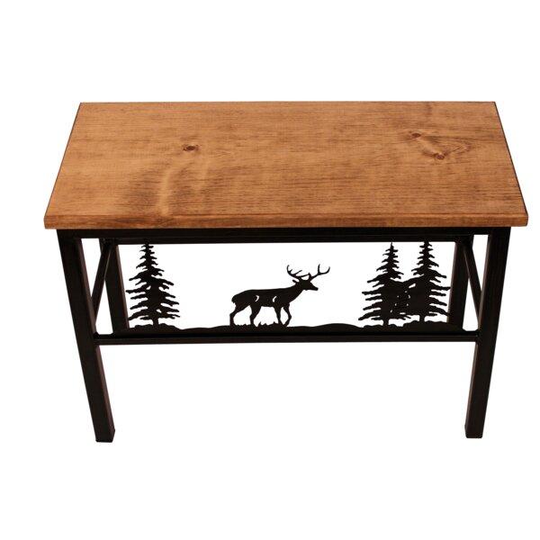 Miriam Deer Scene Wood/Metal Bench by Millwood Pines