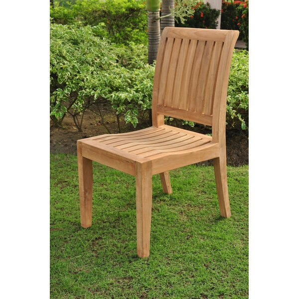 Dousman Folding Teak Patio Dining Chair by Rosecliff Heights