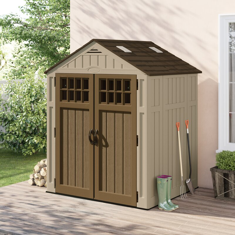 X 5 Ft 6 In D Resin Storage Shed